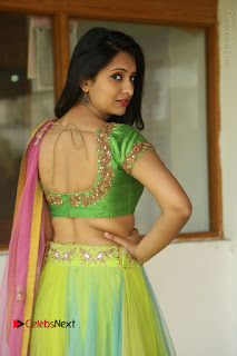 Actress Nikitha Bisht Stills in Lehenga Choli at Pochampally Ikat Art Mela Launch  0030.JPG