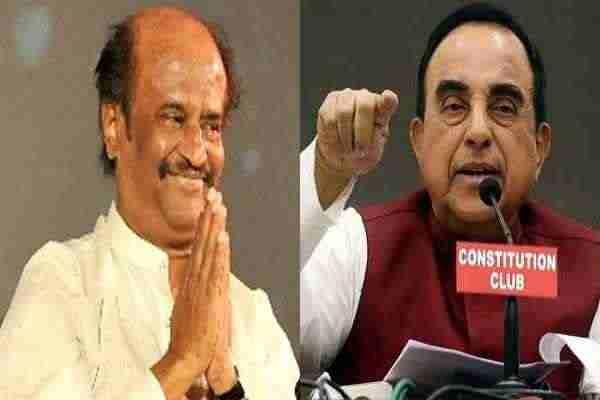 BJP नेता सुब्रमनियम स्वामी ने सुपरस्टार रजनीकांत को बताया 'राजनीति का अनपढ़ कैंडिडेट'
