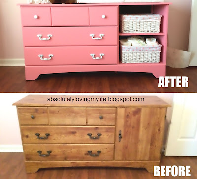 Loving Life Upcycled Goodwill Dresser Repurposed Into