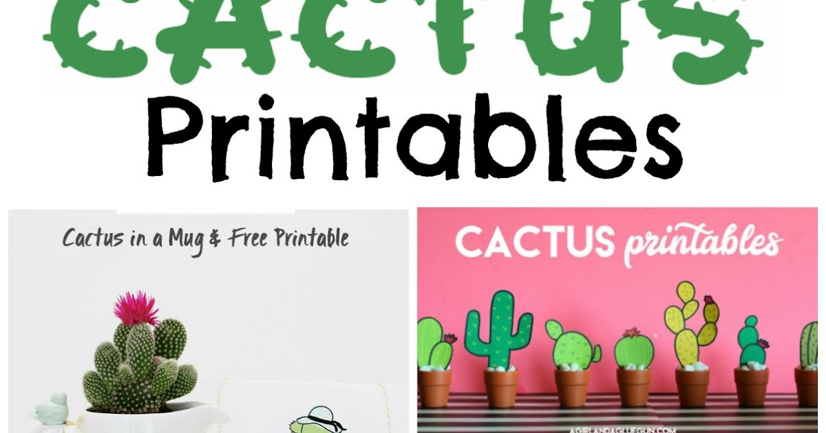 photograph about Cactus Printable identified as Musings of an Common Mother: Cactus Printables