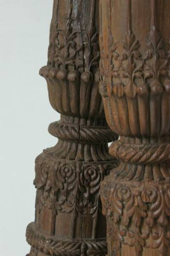 antique carved pillars as seen in i gigi general store - image via their facebook page - featured on linenandlavendernet - http://www.linenandlavender.net/2014/01/source-sharing-i-gigi-general-store-uk.html