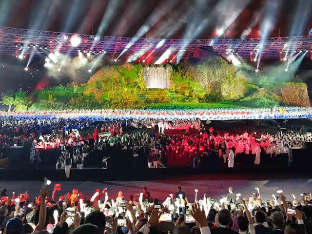 Pembukaan Asian Games 2018 Berlangsung Meriah