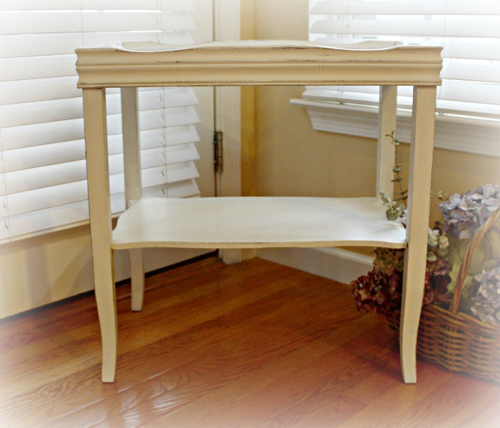 Two tiered painted table