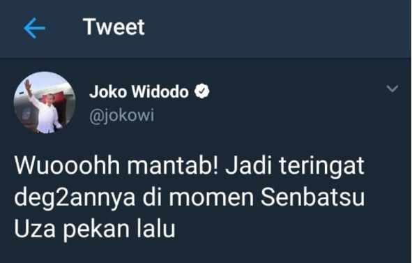 Istana Pecat Admin Twitter Jokowi yang Posting soal JKT48