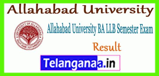 Allahabad University BA LLB  Exam Result
