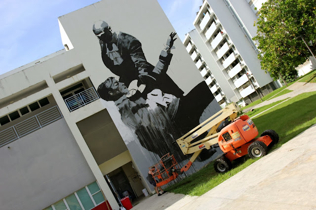 Work In Progress By Irish Street Artist Conor Harrington For Los Muros Hablan 2013. 1