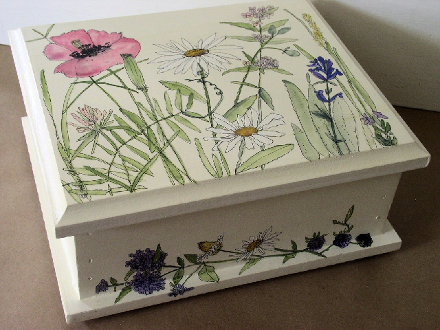 Painted jewelry box/storage box