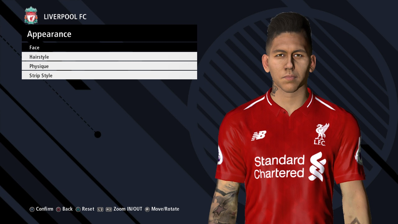PES 2017 R. FIRMINO Face V3 by Ahmed Tattoo & Facemaker