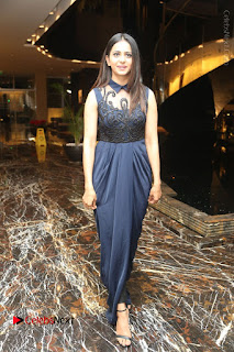 Actress Rakul Preet Singh Stills in Beautiful Blue Long Dress at Dhruva Salute to Audience Event  0123.JPG