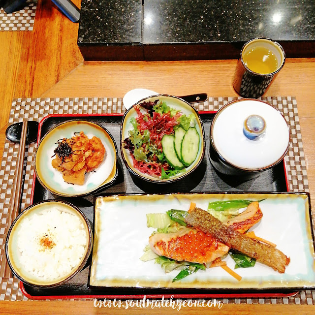 Teppan Salmon Set at Teppan Table, Kota Kinabalu Marriott Hotel