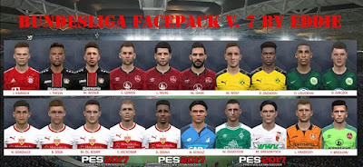 PES 2017 Bundesliga Facepack v7 by Eddie Facemaker