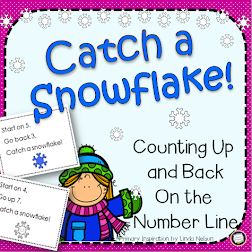 Winter Number Line Addition & Subtraction