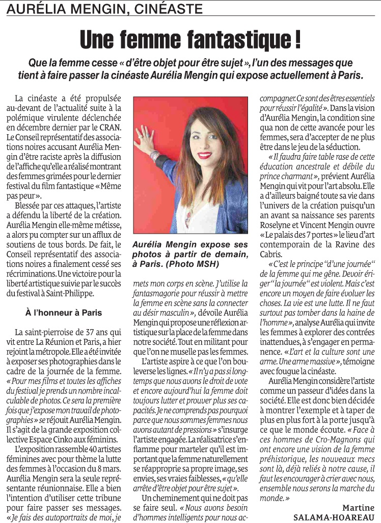 Article du Quotidien de l'île de La Réunion du 8 mars 2018