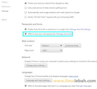 Cara Mematikan Save Password Otomatis Pada Google Chrome