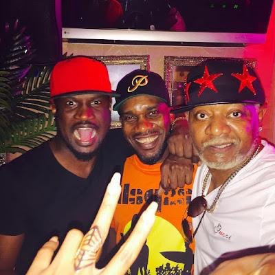 Awilo Longomba hangs out with JJ Okocha & Peter Okoye