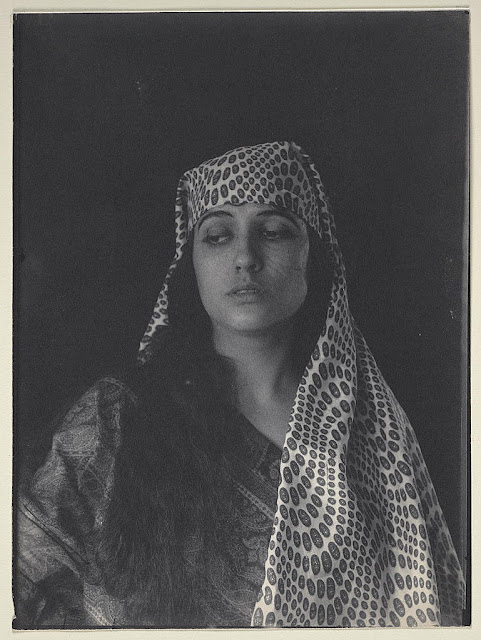 Woman (Julia Arthur) in Middle Eastern (Salome?) costume, ca. 1895, F. Holland Day