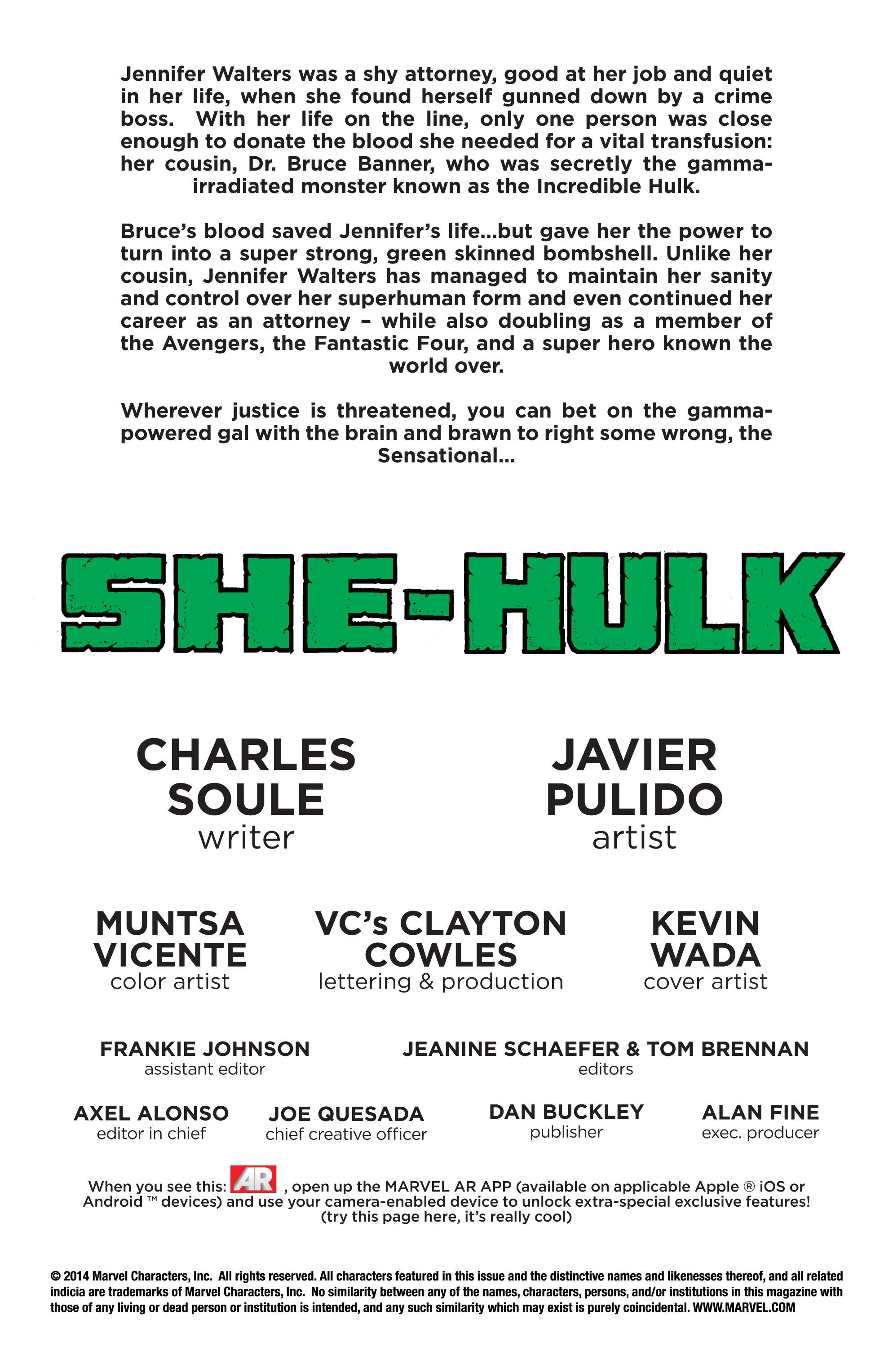 Read online She-Hulk (2014) comic -  Issue #1 - 2