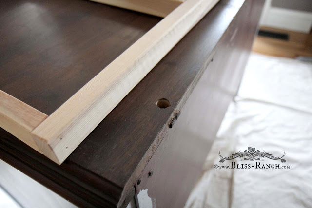 Simple Pine Dresser Diaper Changer Top To Hold Pad, Bliss-Ranch.com