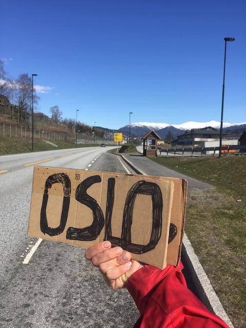 Oslo; Norway; Norwegia' Autostop