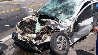 Casal morre e dois homens ficam feridos em acidente na BR-406, no RN