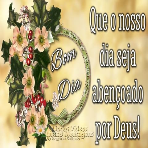 Que o nosso dia  seja abençoado  por Deus!  Bom Dia!