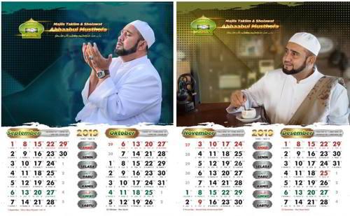 tampilan Kalender Habib Syech 2019 :