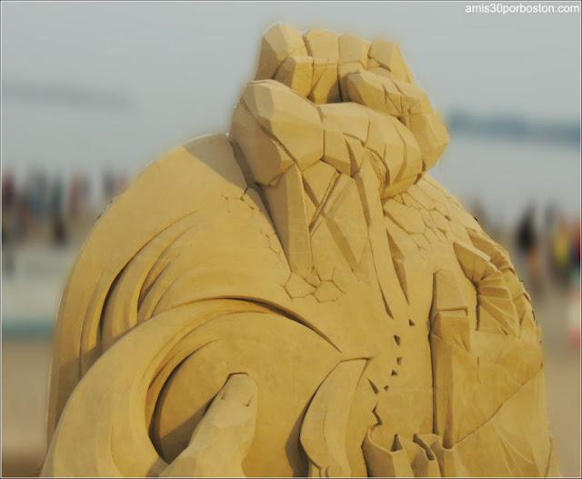 Esculturas de Arena de Revere Beach: Rock. Paper. Scissors de Dan Belcher