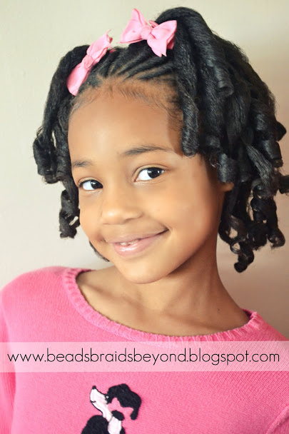 Admirable Beads Braids And Beyond Little Girls Natural Hairstyle Flexi Short Hairstyles For Black Women Fulllsitofus