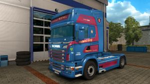 Richard King Haulage UK Skin for Scania RJL