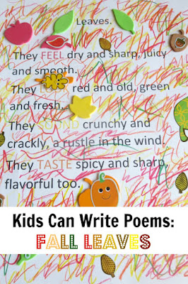 Creative Writing for Kids: acrostic and sensory poems about leaves