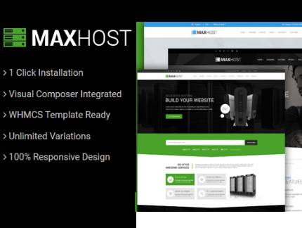 download maxhost web hosting theme