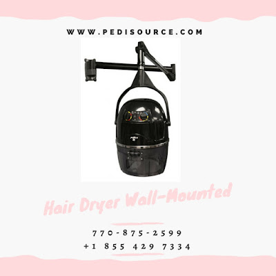 Portable Hooded Dryer with wall mounted from pedisource.com