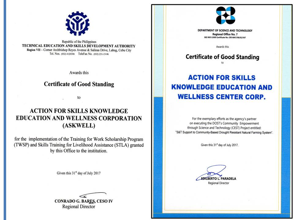 JOURNEY IN SHARING INTELLECTUAL PROPERTY: CERTIFICATES OF GOOD STANDING