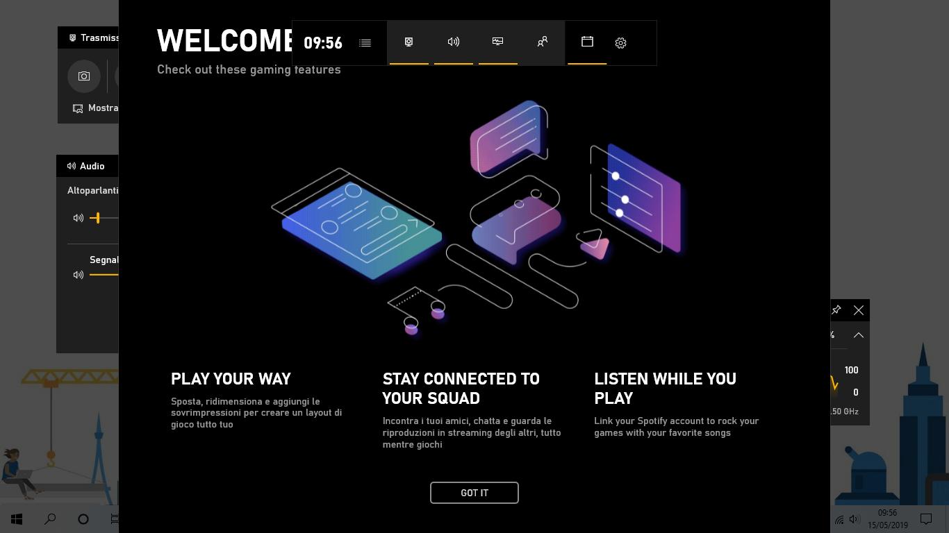 Barra di gioco si aggiorna in Windows 10 con nuovo nome ed altro