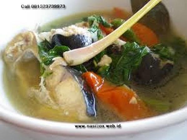 Resep sup asam ikan patin-nasi box walini ciwidey