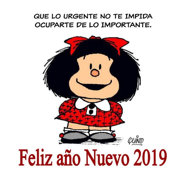 Feliz Navidad y Feliz 2019 Mafalda