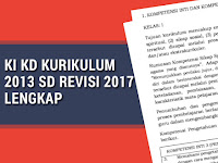 KI KD Kurikulum 2013 SD Revisi 2017 Lengkap
