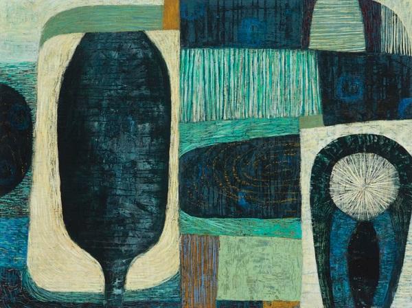 """Claire B Cotts, """"Genesis - Seawater""""   obras de arte abstracto organico contemporaneo, pinturas abstractas, imagenes   art selecta pictures inspiration"""