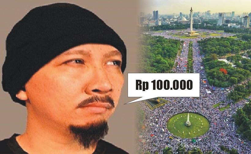Abu Janda sebut massa 212 dibayar 100 ribu