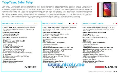 Harga dan Spesifikasi Asus ZenFone 3 Laser 5.5 ZC551KL