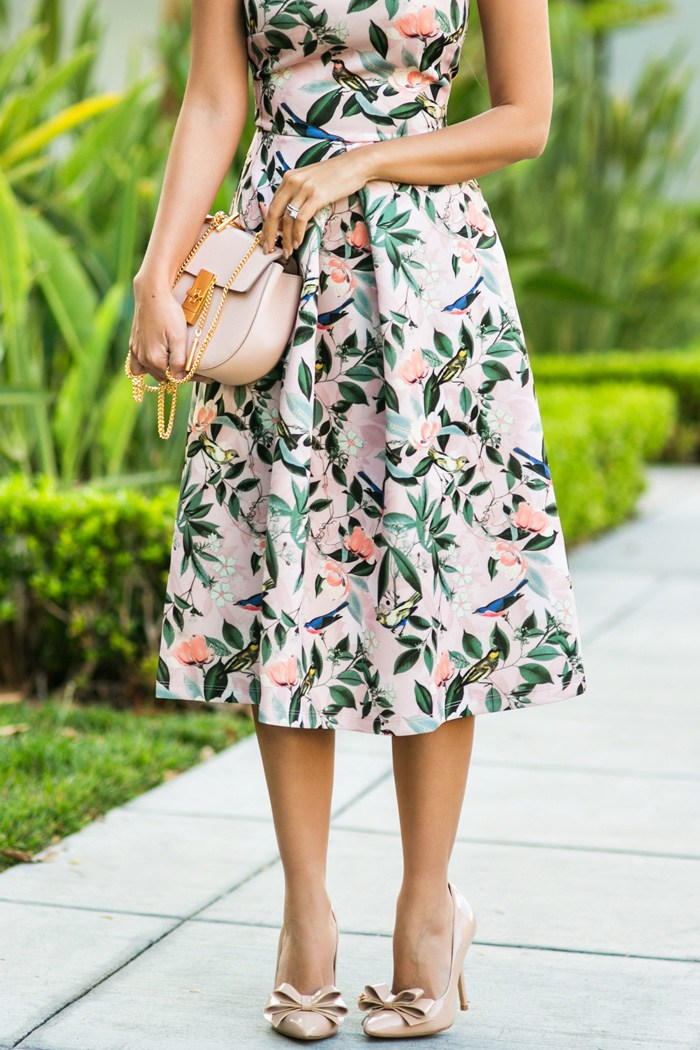 OUTFIT DEL Du00cdA Flowers Dress Outfit - Look Con Vestido ...
