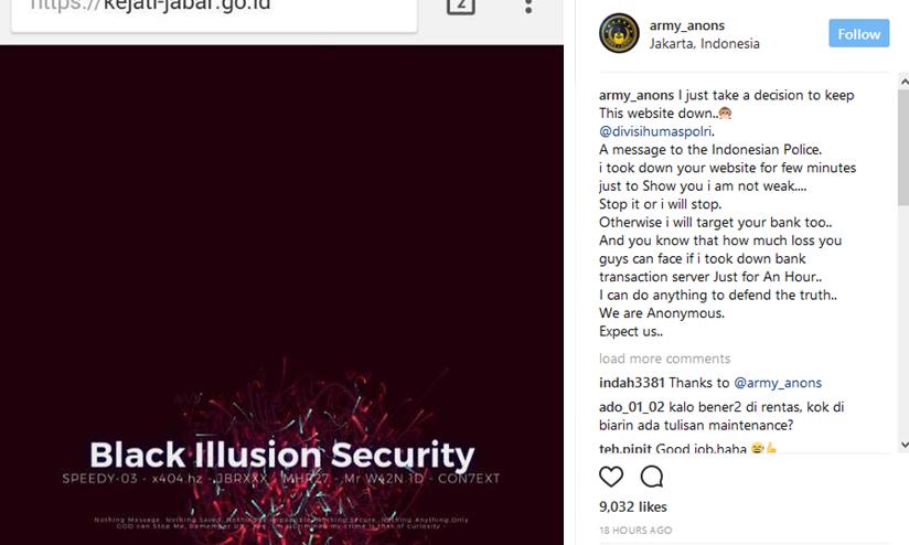 Situs Polri dan Kejaksaan Diretas Hacker