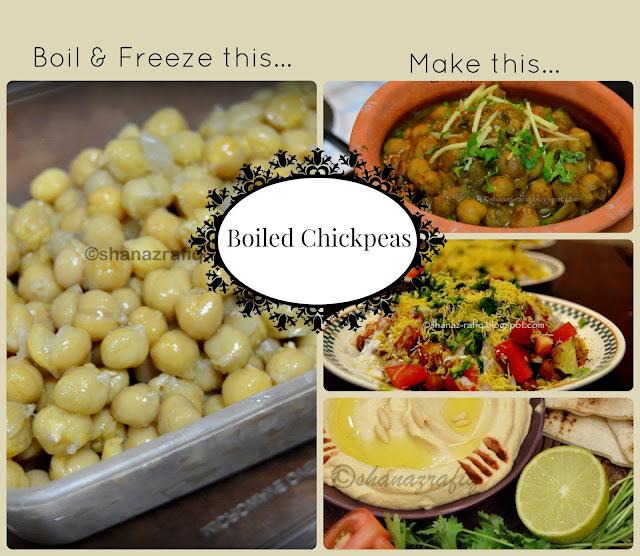 Cooked Chickpeas ~ Hummus