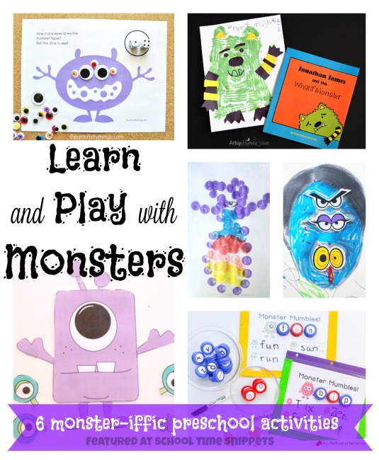 playful preschool monster activities