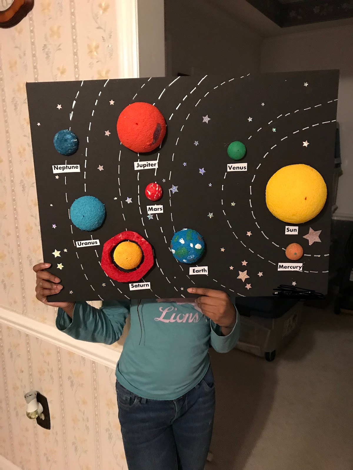 Mswood11 My Daughters Solar System Project