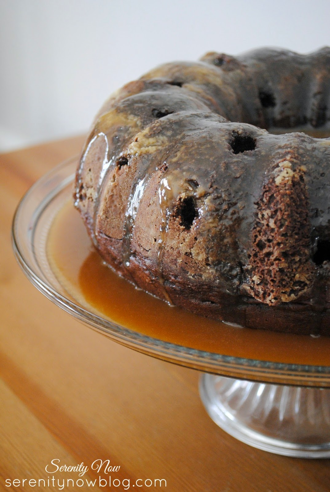 "Easy Chocolate ""Sunday"" Bundt Cake from Serenity Now- so sinful you'll need to go to church on Sunday!"