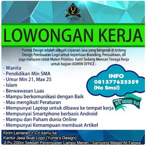 Lowongan Kerja Yumas Design Lampung