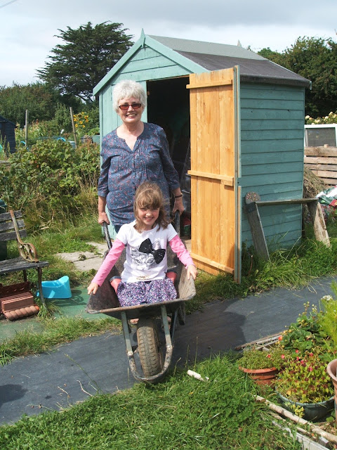 family fun on the allotment