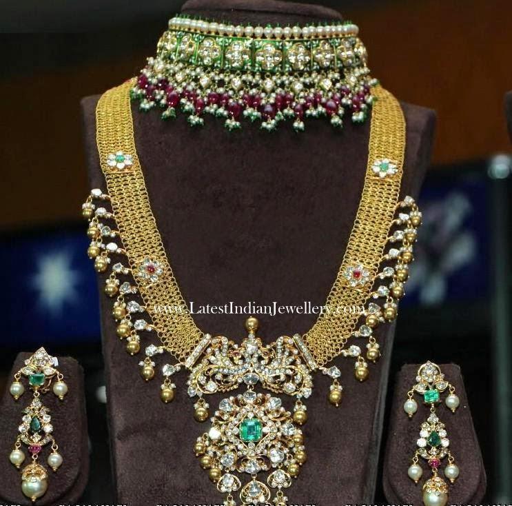Jadavi Lacha And Polki Haram Latest Indian Jewellery Designs