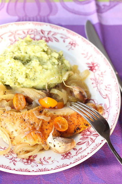 poulet roti aux agrumes